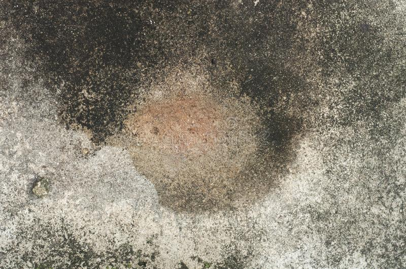 Water stain. On concrete texture stock image