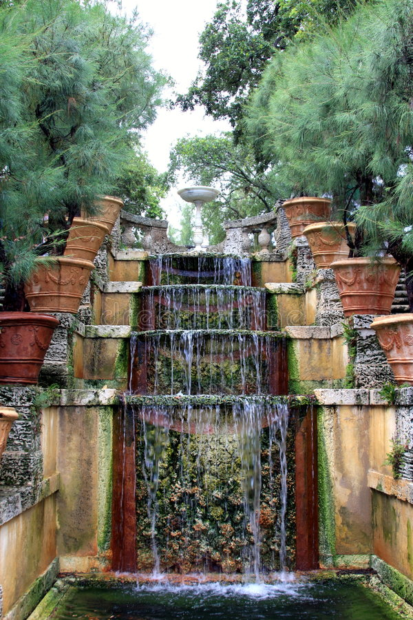 Download Water Stairway in  Vizcaya stock photo. Image of mansion - 5899698