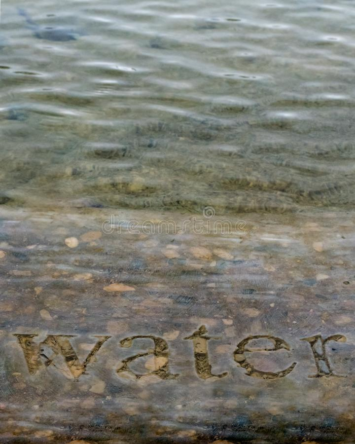 Water in Stone Vertical royalty free stock photos