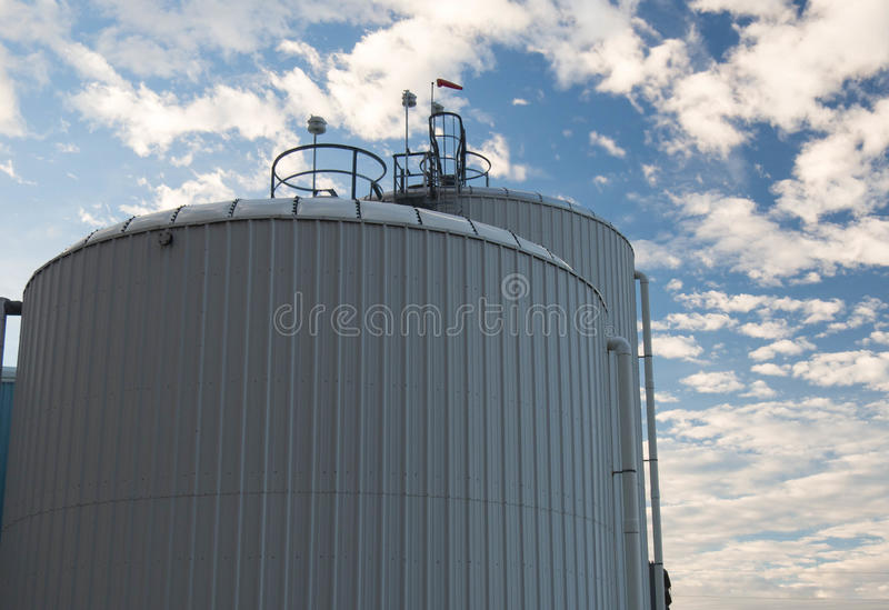 Water storage tanks royalty free stock images