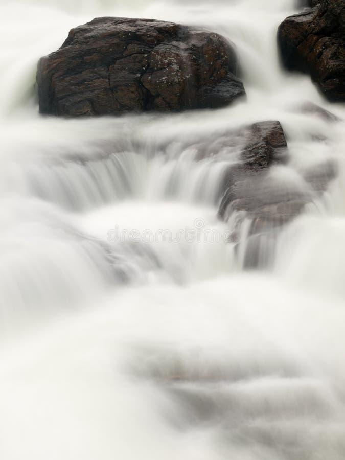Water stream. Long exposure of the water stream, Norway stock image