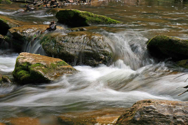 Water streams and cascades