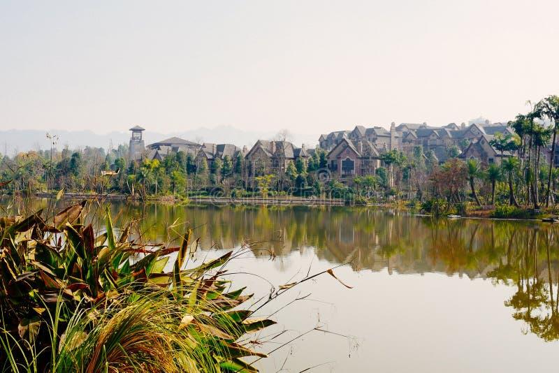 Water street, Xiuhu lake garden stock images