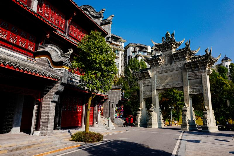Water street, Xiuhu lake garden royalty free stock images