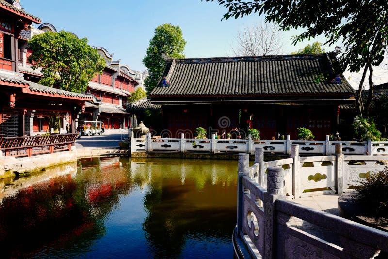 Water street, Xiuhu lake garden royalty free stock image