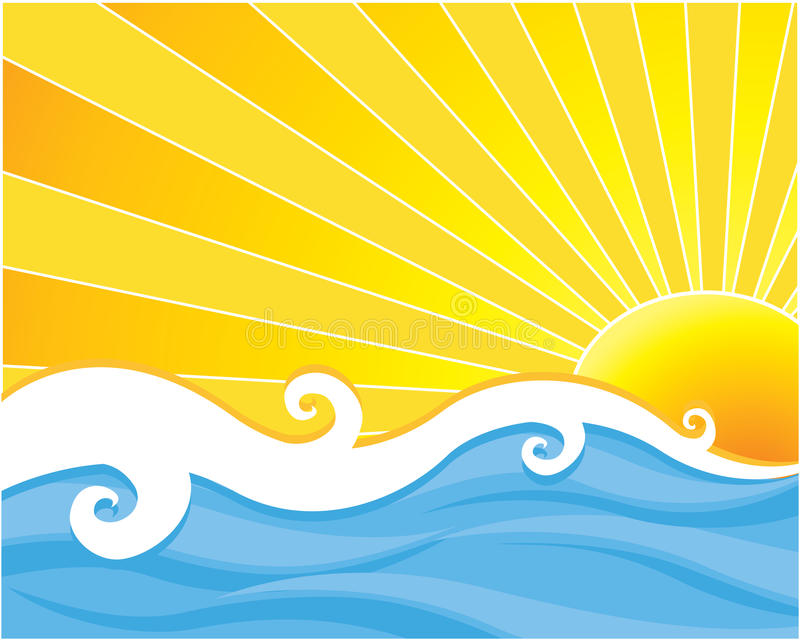 Download Water and sun stock vector. Illustration of illustration - 14996786