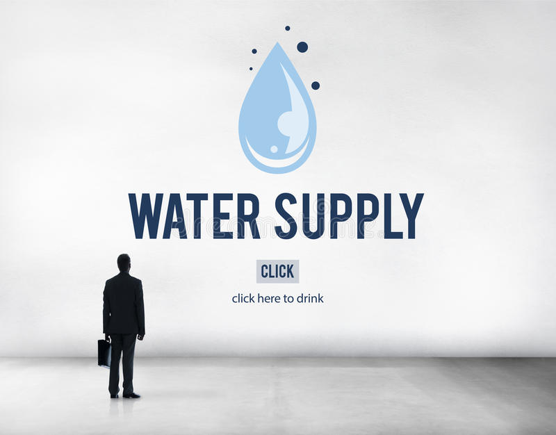 Water Supply Nature Irrigation Irrigating Plant Concept.  royalty free stock images