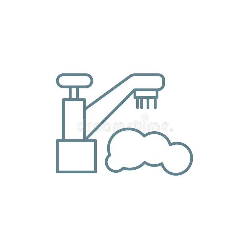 Water supply system linear icon concept. Water supply system line vector sign, symbol, illustration. royalty free illustration