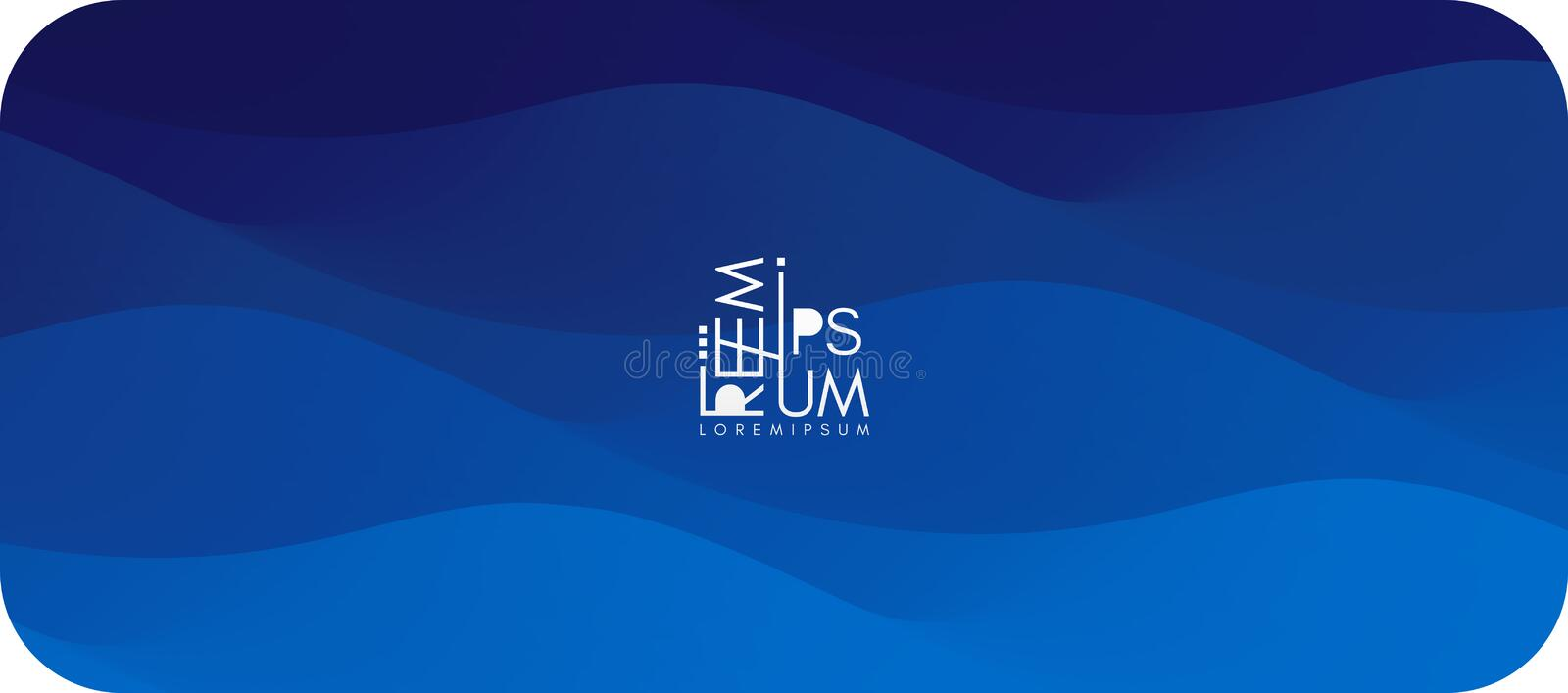 Water surface. Blue abstract background. Vector illustration for design stock illustration