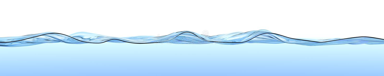 Water surface with waves and ripples. vector illustration