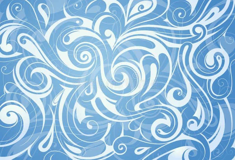 Water swirls ornament vector illustration