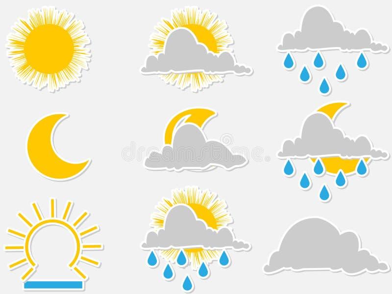 Water symbols stock illustration