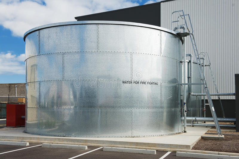 Water tank. Industrial water tank for fire fighting royalty free stock image