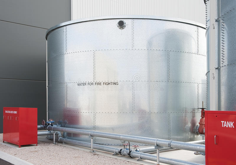 Water tank. Industrial water tank for fire fighting stock photography