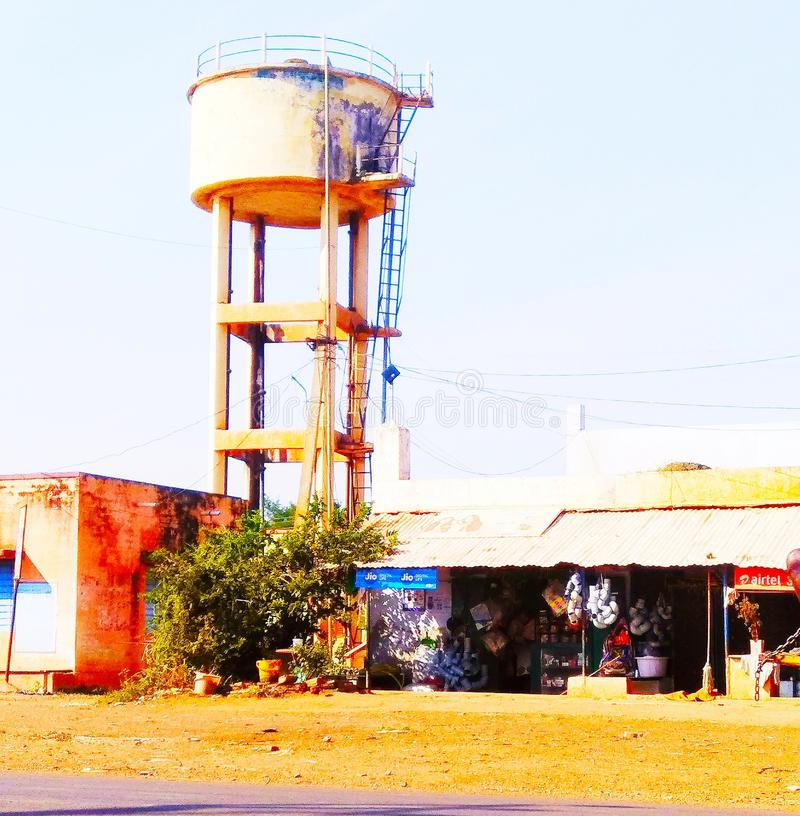 Water tank. In indian villages streets stock photography