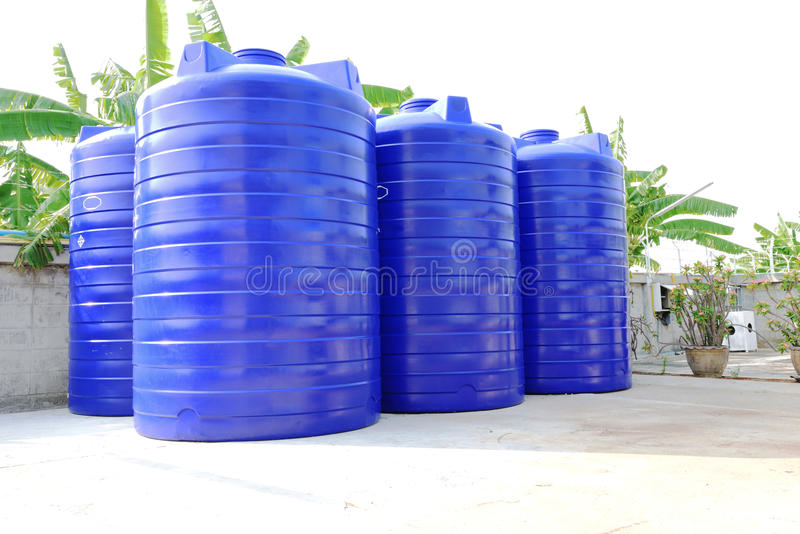 Water tank. Looking great in sunny day royalty free stock photography