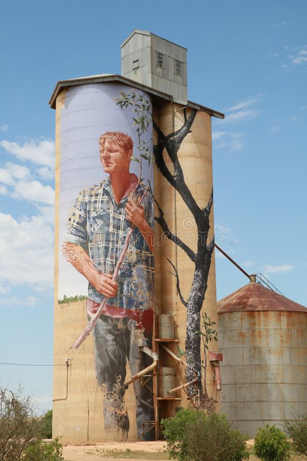 Water Tank, Storage Tank, Silo, Mural royalty free stock photo