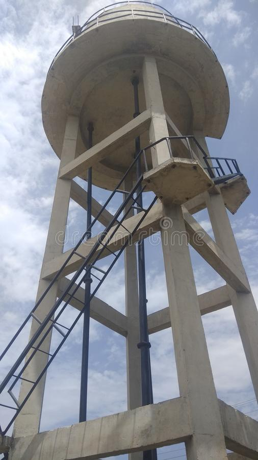 Water tank. View of a water tank in a village stock photos