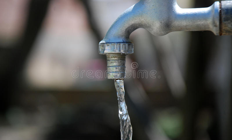 Water from tap stock images