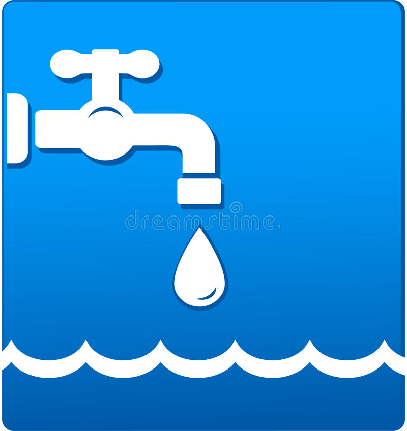 Water tap and wave royalty free illustration