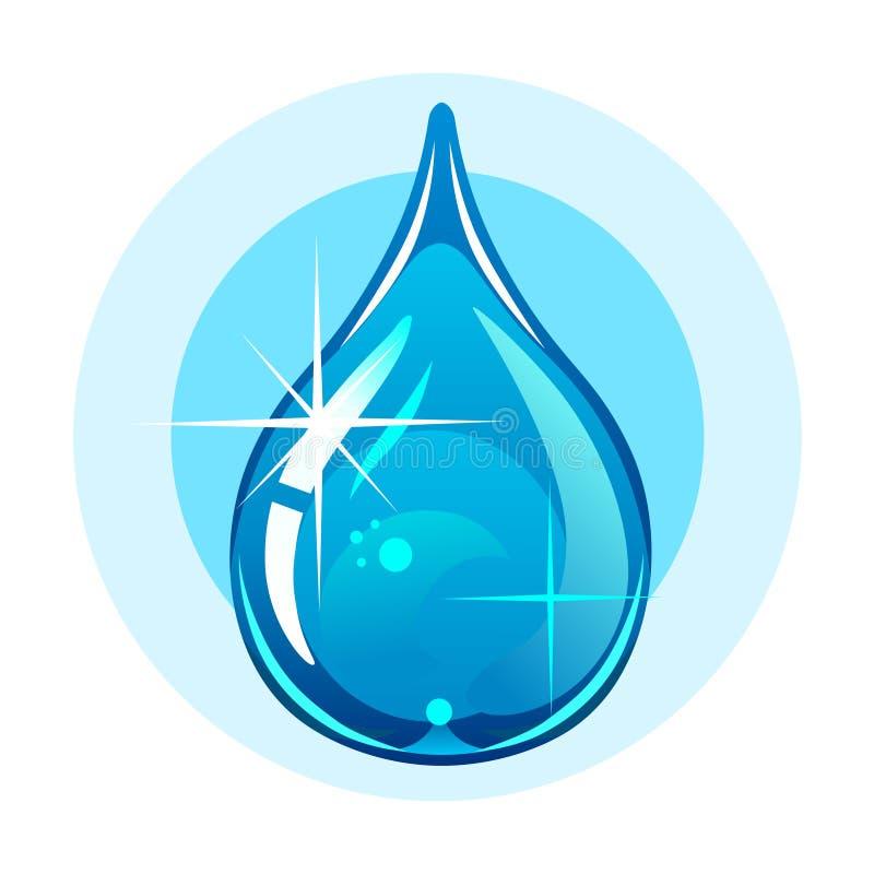 Water tappar stock illustrationer
