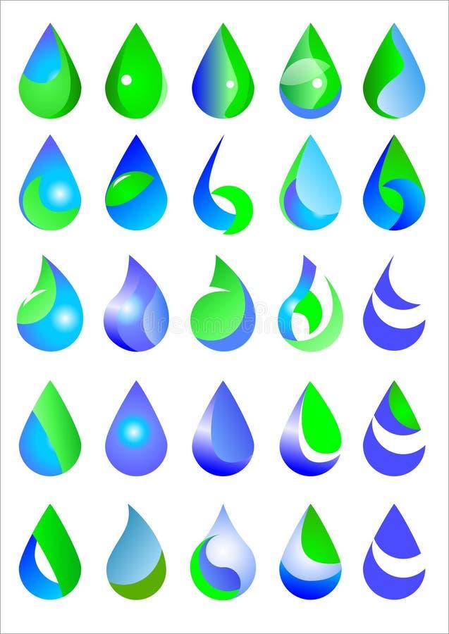 Water tappar vektor illustrationer