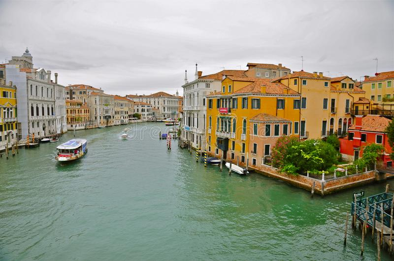 Water Taxi on Canal Grande, Venice royalty free stock photography