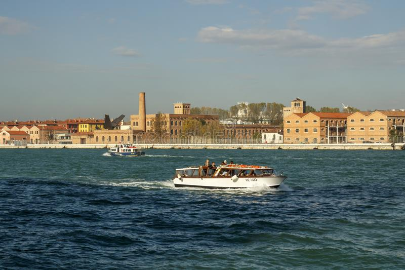 water taxi commuting in venice italy 2016 editorial photo image