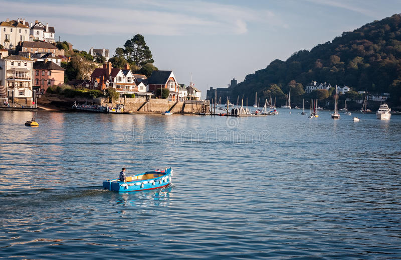 Water Taxi Dartmouth Devon England stock images