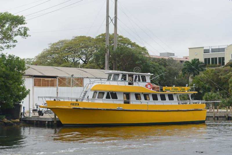 Water Taxi on New River, Fort Lauderdale, Florida. Water Taxi on New River Fort Lauderdale New River is Intracoastal Waterway to Atlantic Ocean and is home for stock photography