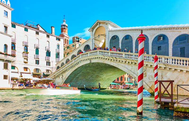 Water taxi in Venice royalty free stock image