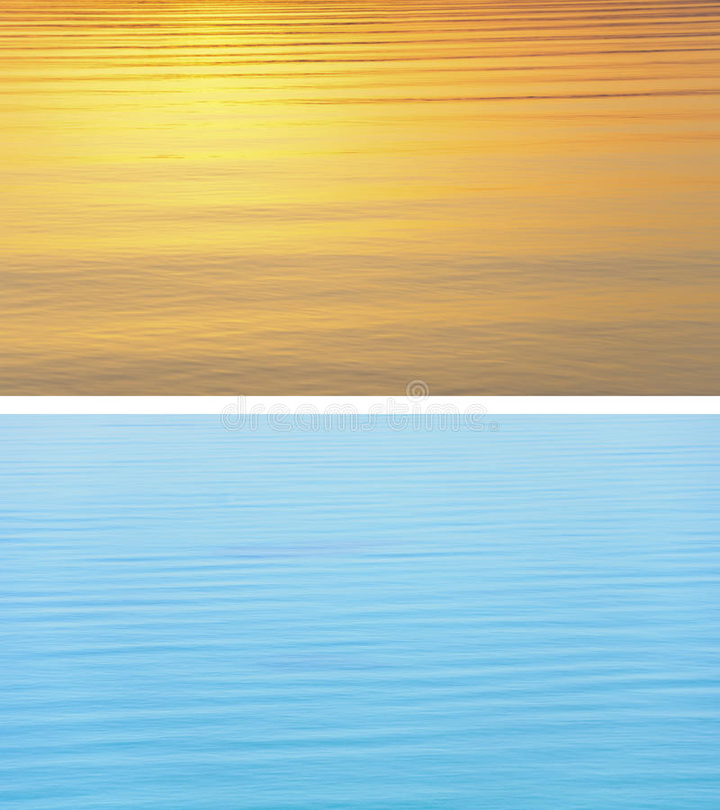 Water Texture - Warm Vs Cold Royalty Free Stock Photos