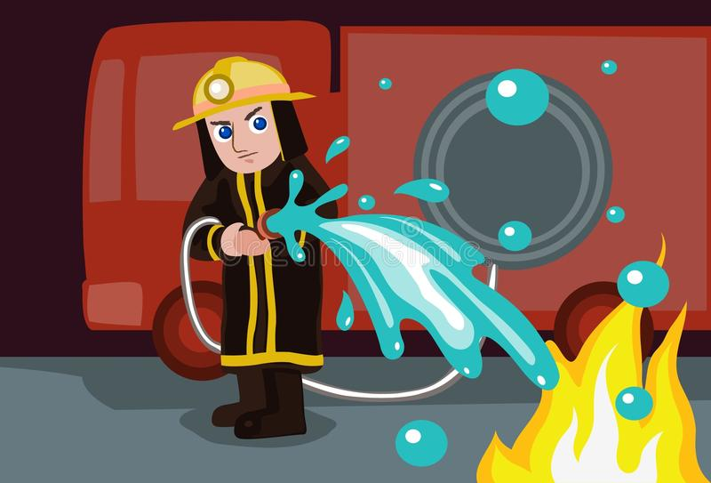 Download Water To Extinguish Fire stock illustration. Illustration of dowse - 12977913