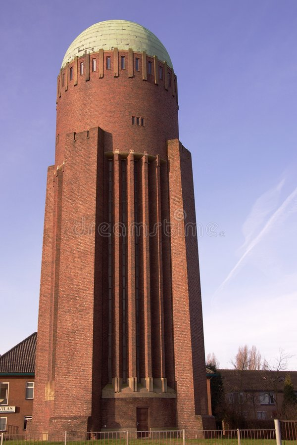 Water-tower. The water tower of Naaldwijk, the Netherlands has a height of 40,8 meters stock photos