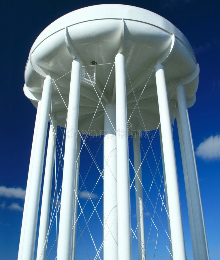 Water Tower. A city's high rise, gravity fed, drinking water storage tower royalty free stock photography