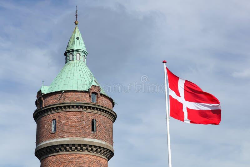 Water tower in Aarhus. Denmark stock image