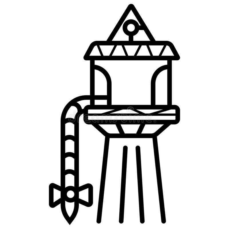 Water tower building icon. Vector vector illustration