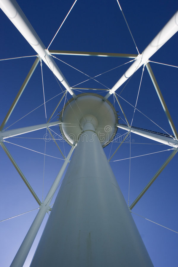 Water Tower with cell anntenas stock photo