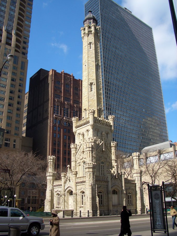 Download Water Tower, Chicago stock photo. Image of masonry, avenue - 459734