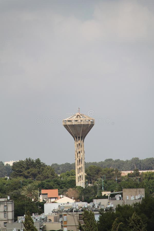 Water Tower, Ramla, Israel. The Water Tower, City of Ramla, Israel stock photos