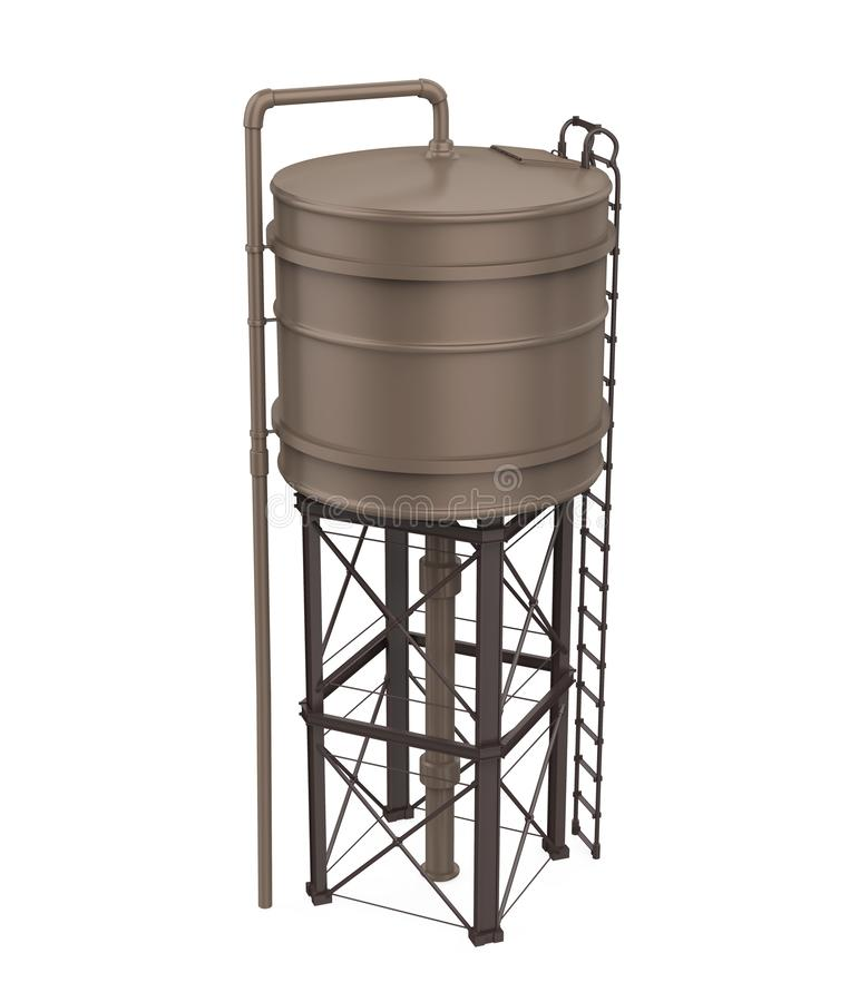 Free Water Tower Isolated Royalty Free Stock Image - 129212456