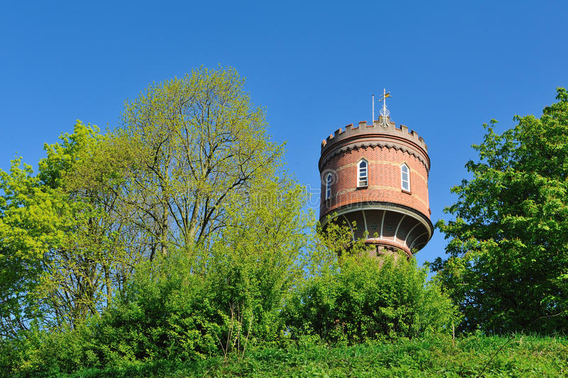 Water tower in the Netherlands. An old watertower in the Netherlands during springtime stock photography