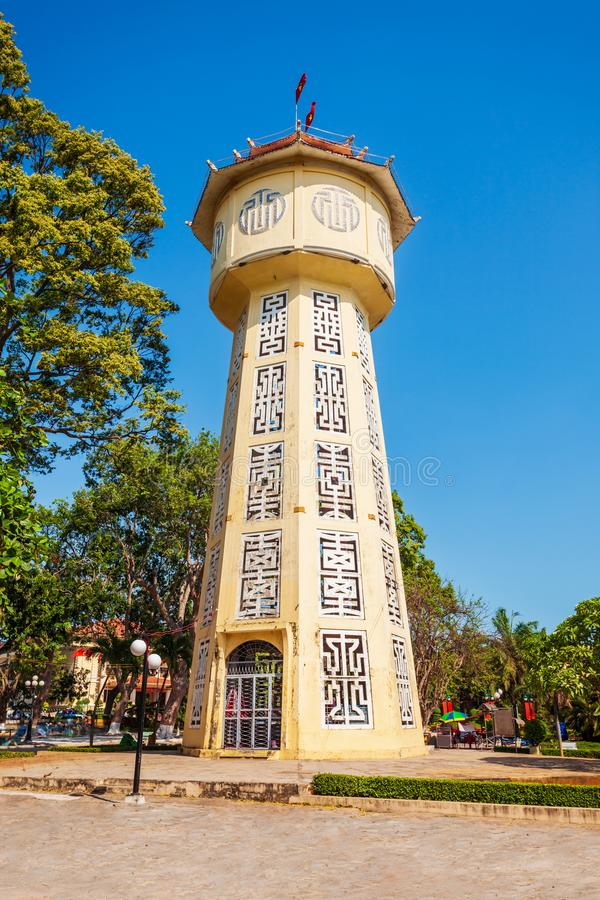 Water tower in Phan Thiet royalty free stock photos