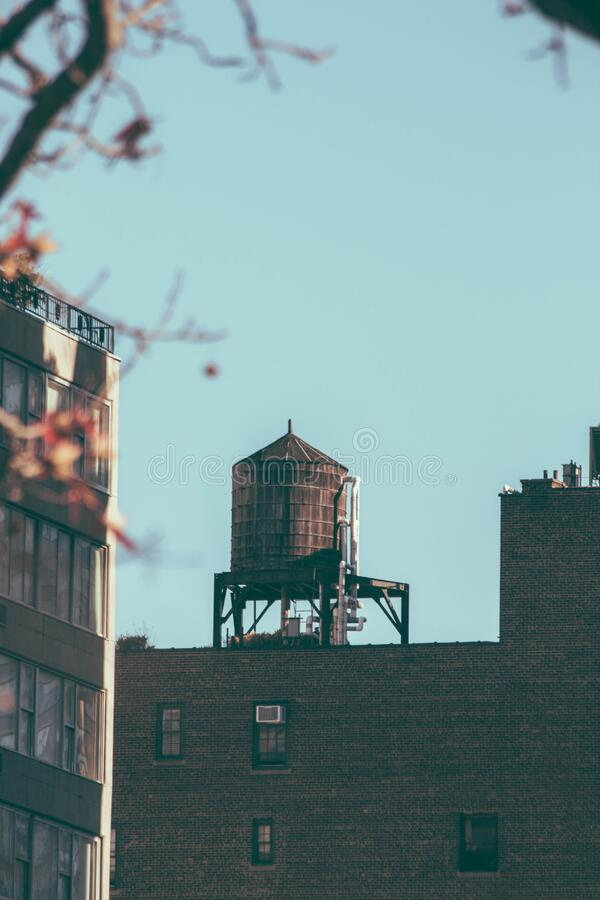 Water Tower On Rooftop Free Public Domain Cc0 Image