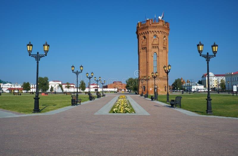 Water tower. Tobolsk Kremlin. Tobolsk. Tyumen Oblast. Russia royalty free stock photo
