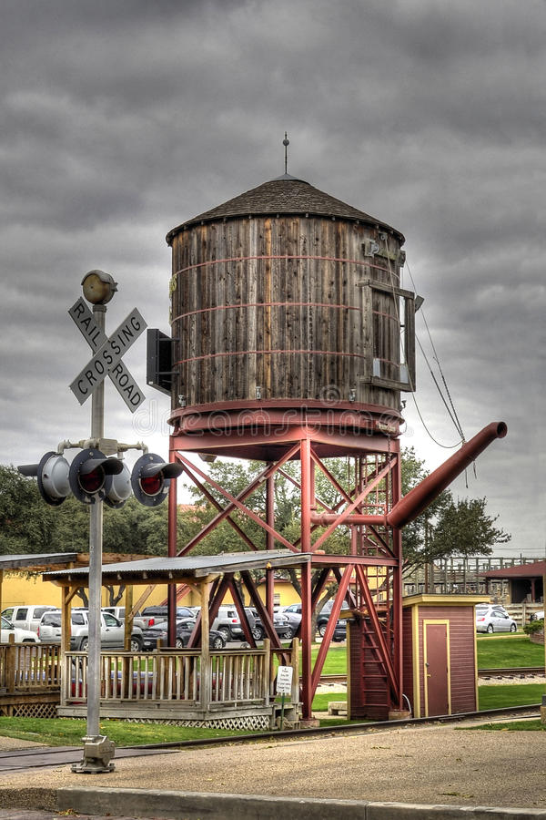 Water Tower for train stock photo