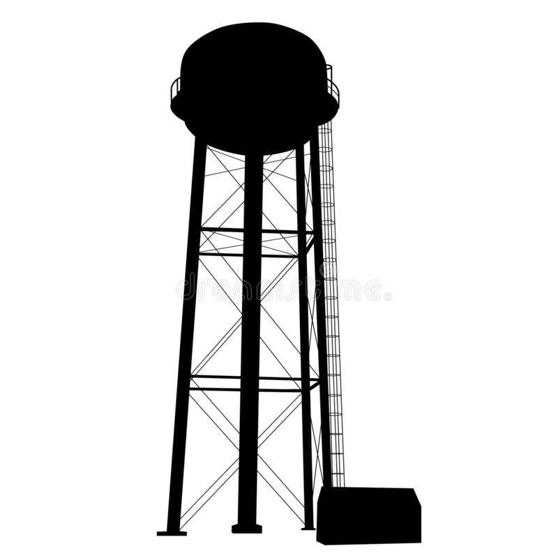 Free Water Tower Vector Eps Illustration By Crafteroks Stock Photography - 146406082