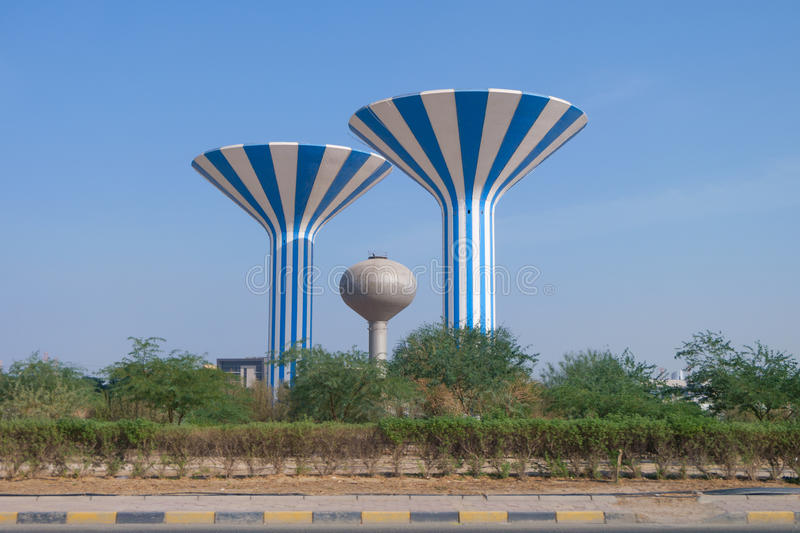 Water towers of Kuwait royalty free stock images