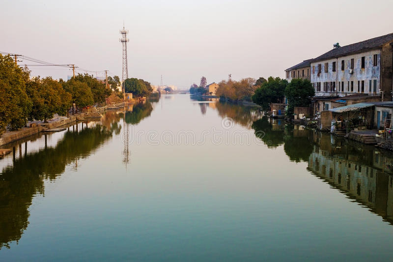 Water town in Ningbo China. Ancient water town in Ningbo China royalty free stock photography