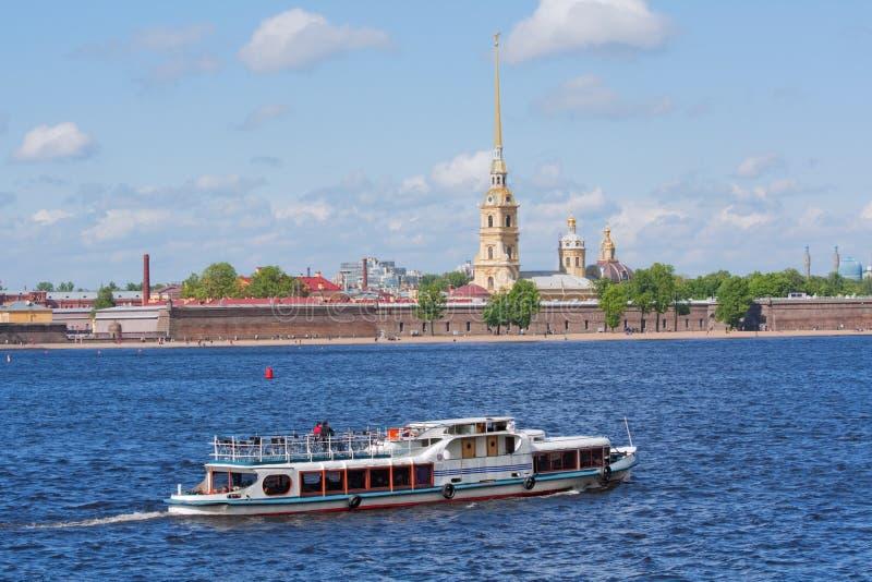 Water transport in Saint Petersburg stock images
